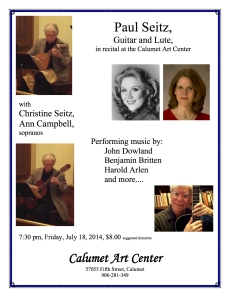 Paul Seitz guitar and lute recital poster2