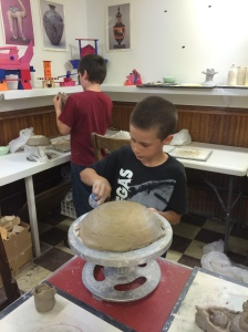 Our clay class.