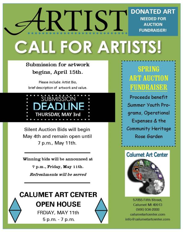 call for artist may 2018
