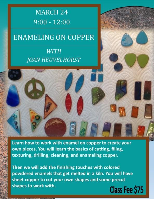 Copper Enamel Poster Build March 24, 2018