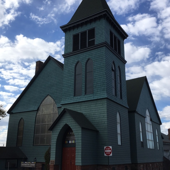The Calumet Art Center in the Big Green Church