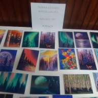Watercolor magnets by Donna Lenard