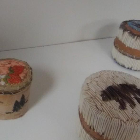 Eunice Carlson's fabulous quill work